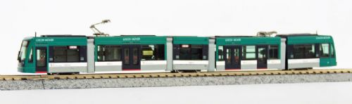 Modemo NT123 Hiroshima Green Mover Articulated Tram N